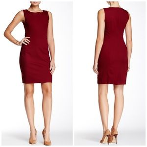 NWT Theory Betty 2B Red Suiting Sheath Dress